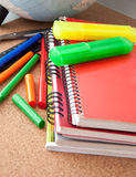 School supplies. Writing utensils. Royalty Free Stock Photo