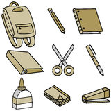 School Supply Icons Stock Image