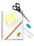 School supply set Stock Image