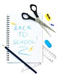 School supply set Stock Photos