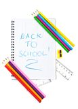 School supply set Royalty Free Stock Photo