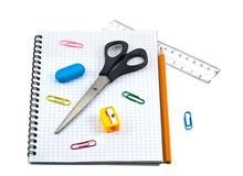 School supply set Royalty Free Stock Images