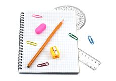 School supply set Royalty Free Stock Photos