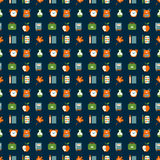 School symbols seamless pattern Stock Images