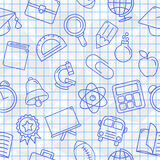 School Symbols Seamless Pattern Stock Photography