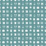 School symbols seamless pattern Royalty Free Stock Photos