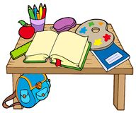 School table 2. On white background - vector illustration Stock Image