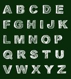 School table alphabet Royalty Free Stock Photo