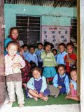 School in Tallo Chipla - Annapurna circuit - Nepal Royalty Free Stock Photography