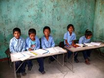 School in Tallo Chipla - Annapurna circuit - Nepal Royalty Free Stock Photos