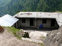 School in Tallo Chipla - Annapurna circuit - Nepal Stock Photography