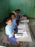 School in Tallo Chipla - Annapurna trekking - Nepal Stock Photo