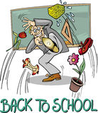 School Teacher at Blackboard Stock Images