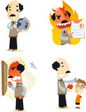 School teacher cartoon illustrations Stock Photos