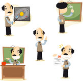 School teacher cartoon illustrations Royalty Free Stock Photo