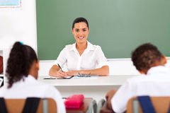 School teacher classroom Royalty Free Stock Photos