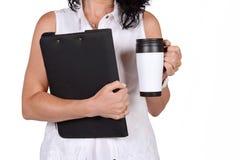 School teacher with coffee mug. Royalty Free Stock Photography