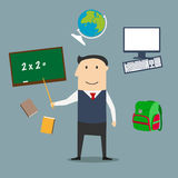 School teacher and education icons Royalty Free Stock Images