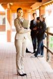 School teacher full length. Full length portrait of a female school teacher royalty free stock photos