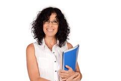 School teacher holding books. Stock Image