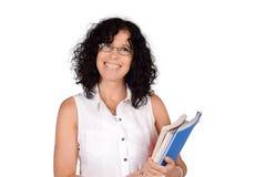 School teacher holding books. Stock Photography