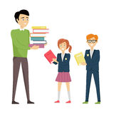 School Teacher with Pupils Royalty Free Stock Image