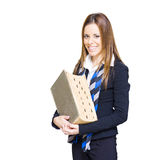 School Teacher Smiling Holding Education Textbook Royalty Free Stock Image