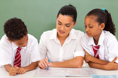School teacher students Stock Images
