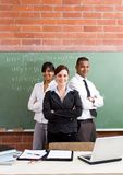 School teachers. Group of young school teachers in classroom Stock Photography