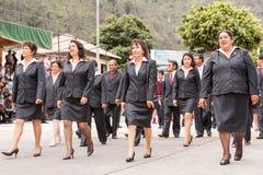 School Teachers Attending Public Event. Banos De Agua Santa, Ecuador - 26 July 2015: School Teachers Attending Summer Break Festivity In Banos De Agua Santa On Stock Photo