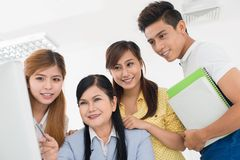 School teamwork Stock Photo