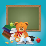 School Teddy Bear Royalty Free Stock Image
