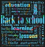 School text background on dark. Vector school text background on dark Stock Photos