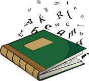 School textbook - the letters and words Royalty Free Stock Photos