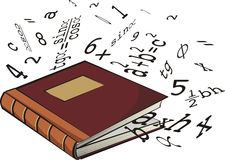 School textbook - numbers and mathematical formula Stock Photography