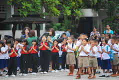 School in Thailand Stock Image
