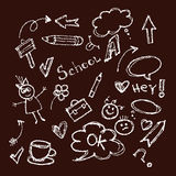 School theme in chalk Stock Photos