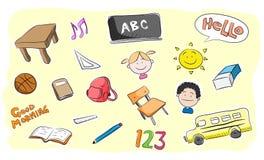 School Theme Doodle Set Royalty Free Stock Photo