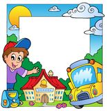 School theme frame 1 Royalty Free Stock Photos