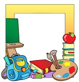 School theme frame 2 Royalty Free Stock Photo
