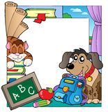 School theme frame 7 Royalty Free Stock Image