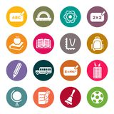 School theme icon set Royalty Free Stock Photos