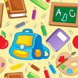 School theme seamless background 1 Stock Photography