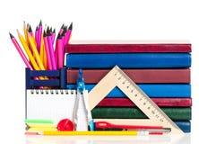 School tillbehör Fotografering för Bildbyråer