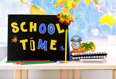 School time. Conceptual image of education & knowledge Stock Images