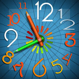 School Time - Colorful Clock Royalty Free Stock Image