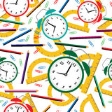 School time pattern Royalty Free Stock Photos
