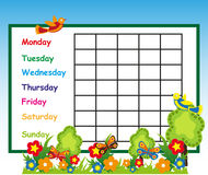 Free School Time Table Stock Photography - 49236582
