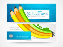 School time web header or banner. Royalty Free Stock Image