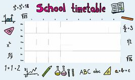 School timetable Stock Photo
